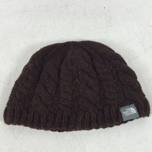 The North Face Dark Brown Knit Beanie Hat One Size 3c793b238936